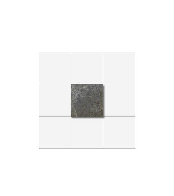 "Royal Grey Marble 4"" x 4"" 1"