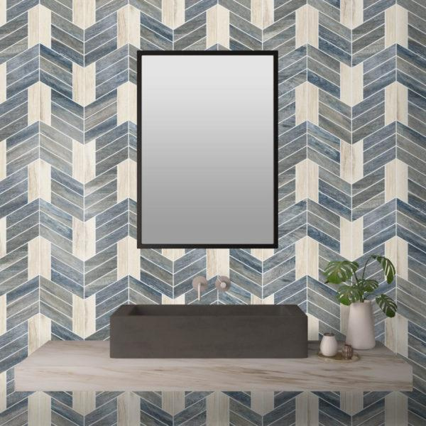 Jonathan Blue & White Chevron 2