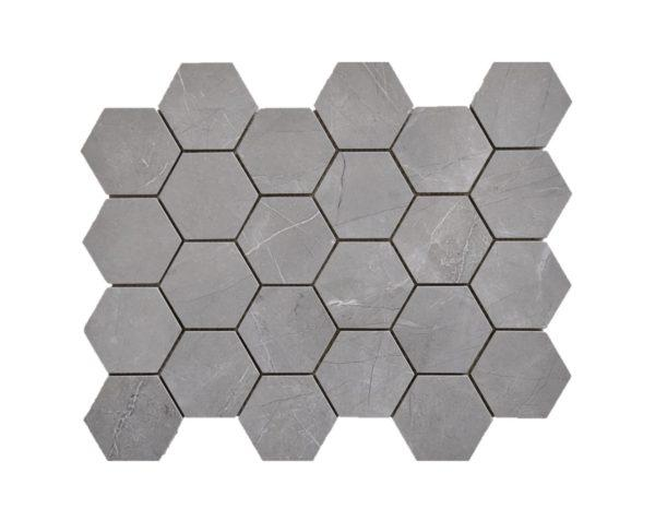 "Pulpis Grey Hexagon 3"" 1"